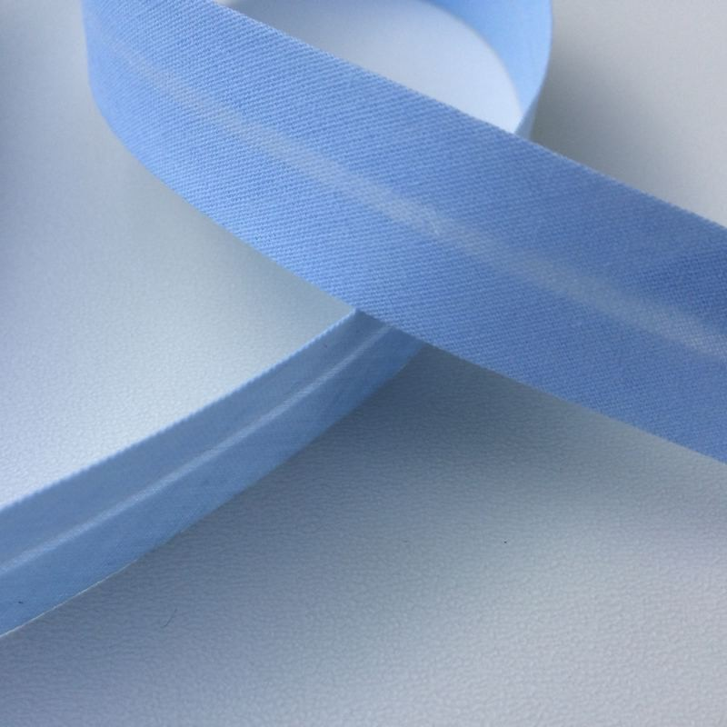 Biais textile 20mm bleu clair (vendu au mètre)