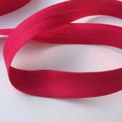 Biais textile 20mm fushia (vendu au mètre)