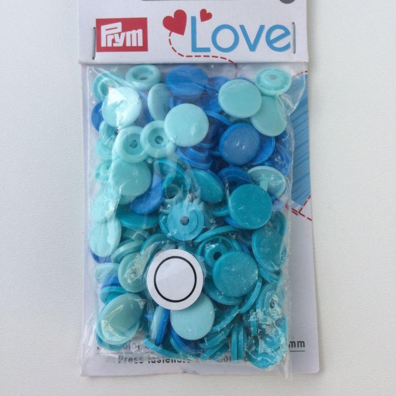 Pression Prym love dégradé de bleu