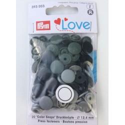 Pression Prym love dégradé de noir (30 pièces)