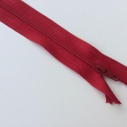 Fermeture éclair zip nylon 20cm ROUGE