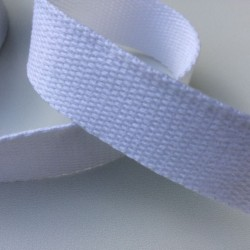 Sangle / Ruban 20 mm blanc  (Vendu au mètre)
