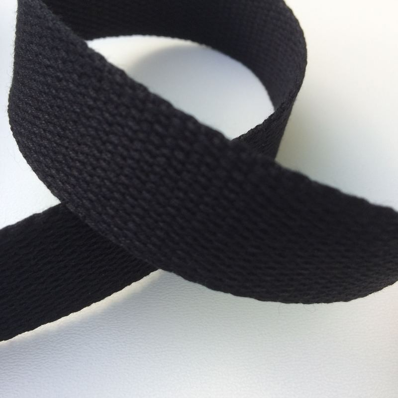 Sangle / Ruban 20 mm noir  (Vendu au mètre)