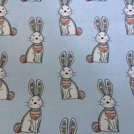 "Tissu Art gallery Fabrics "" Mes beaux lapins "" (vendu par 10 cm)"