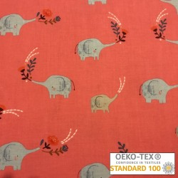 "Tissu Dashwood ""safari Elephant"""
