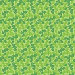 Tissu Dino-Mite feuille verte