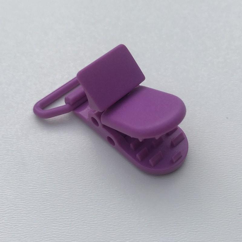 Clip / Attache tétine - Prune