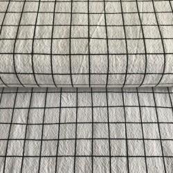Tissu lavé carré blanc...