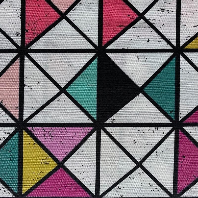 "Tissu coton AGF ""Triangles ou carrés pop """