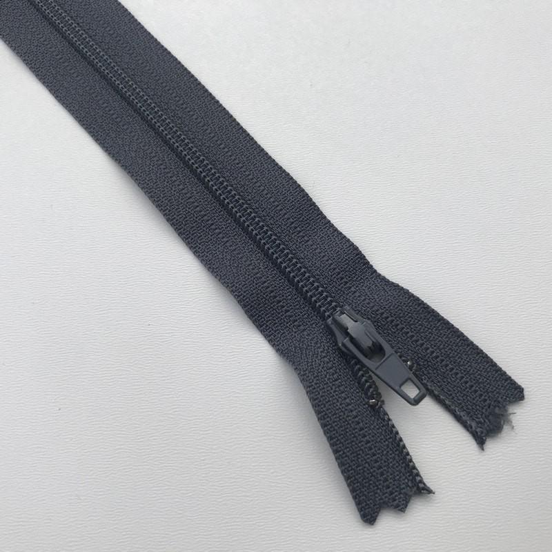 Fermeture éclair zip nylon 18cm gris