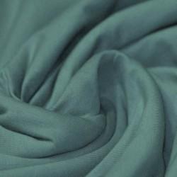 Tissu. jersey vert d'eau Oeko tex
