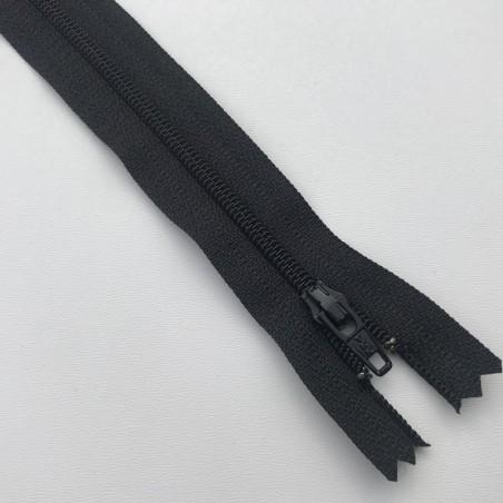 Fermeture éclair zip nylon 18cm noir