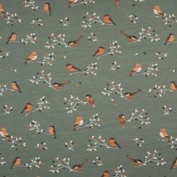 Tissu jersey imprimé oiseaux