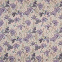tissu coton popeline fleurs lilas liberty