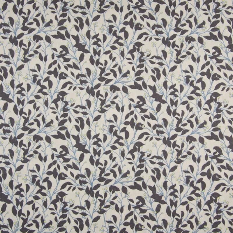 tissu coton popeline fleurs et baies