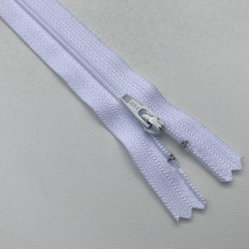 Fermeture éclair zip nylon 18cm Blanc