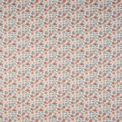 Tissu coton popeline jardin de fleur BIO
