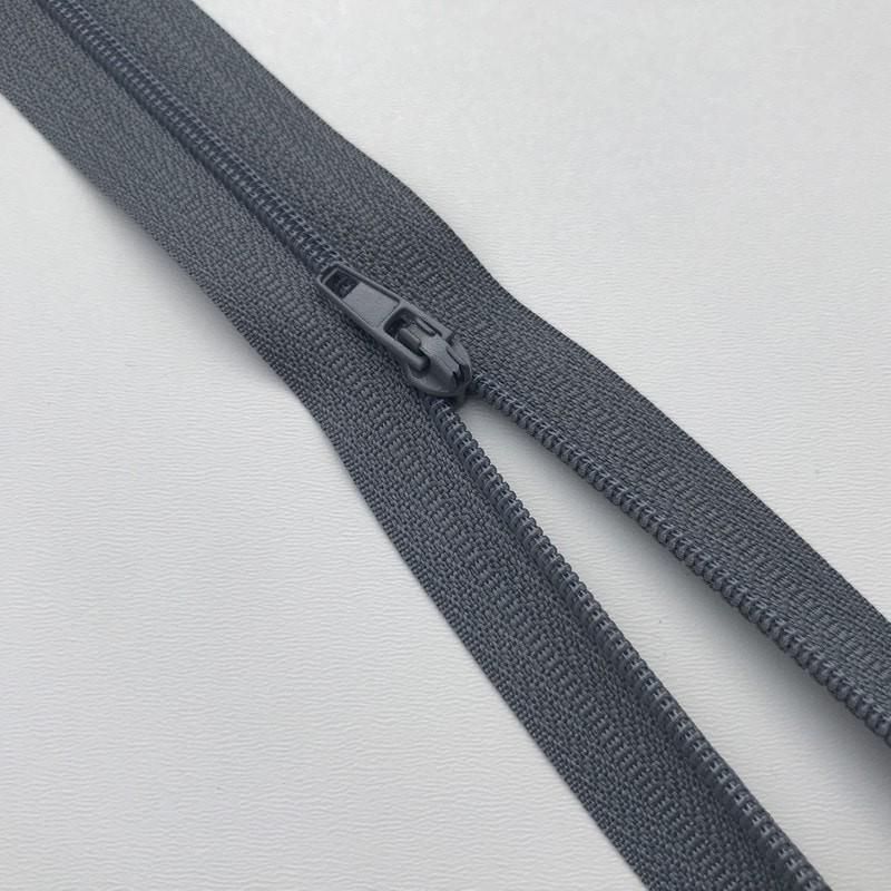 Fermeture éclair zip nylon 20cm gris