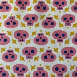 """Tissu coton Camelots Fabrics """"Têtes de morts"""""""