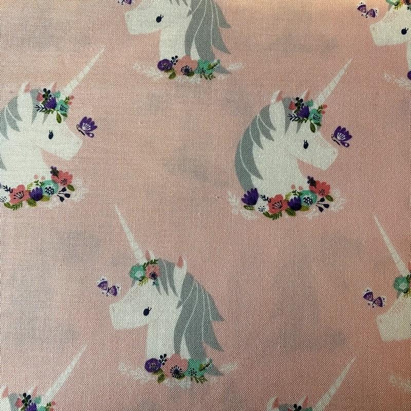 """Tissu coton Cotton steel """"Licornes"""""""