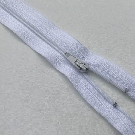 Fermeture éclair zip nylon 20cm blanc