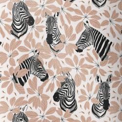 Tissu coton premium impression numérique Zèbres