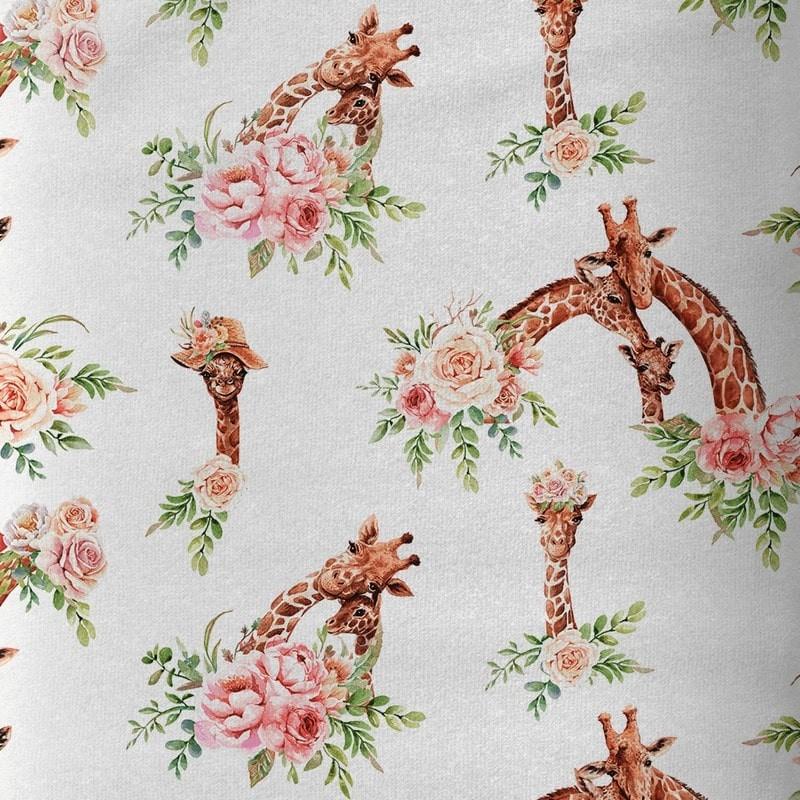"Tissu coton Premium ""Un amour de Girafe"""