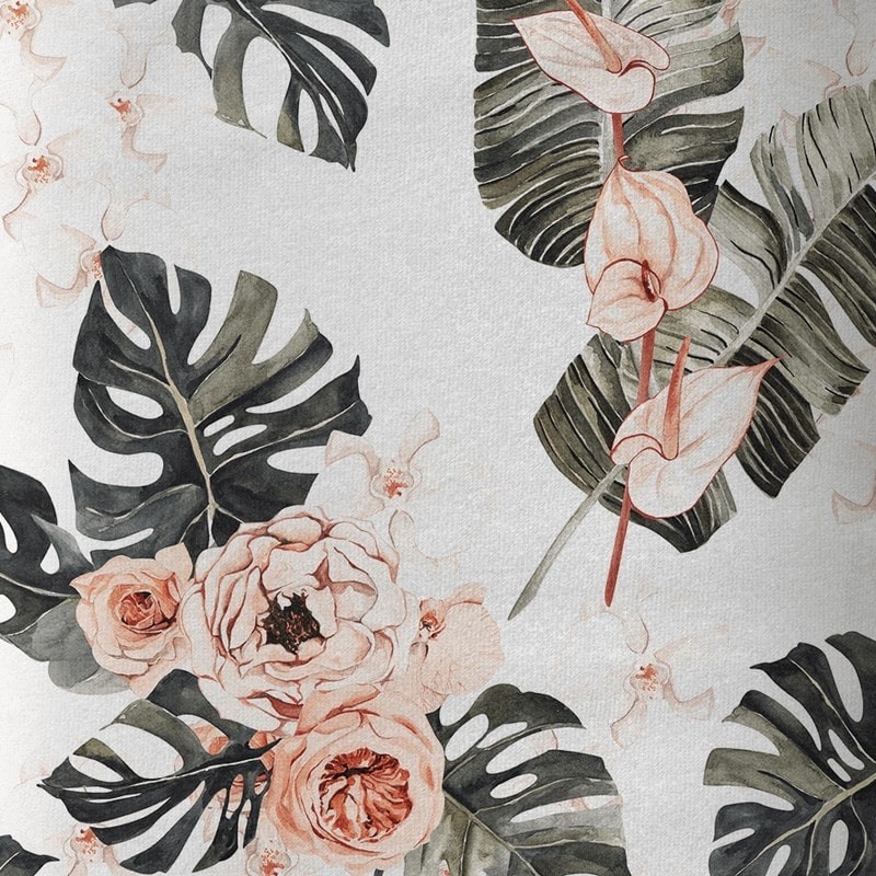 """Tissu coton Premium impression numérique  """"Juste une rose """""""