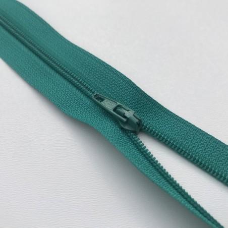 Fermeture éclair zip nylon 20cm vert canard