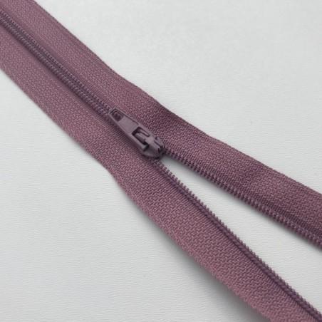 Fermeture éclair zip nylon 20cm vieux rose