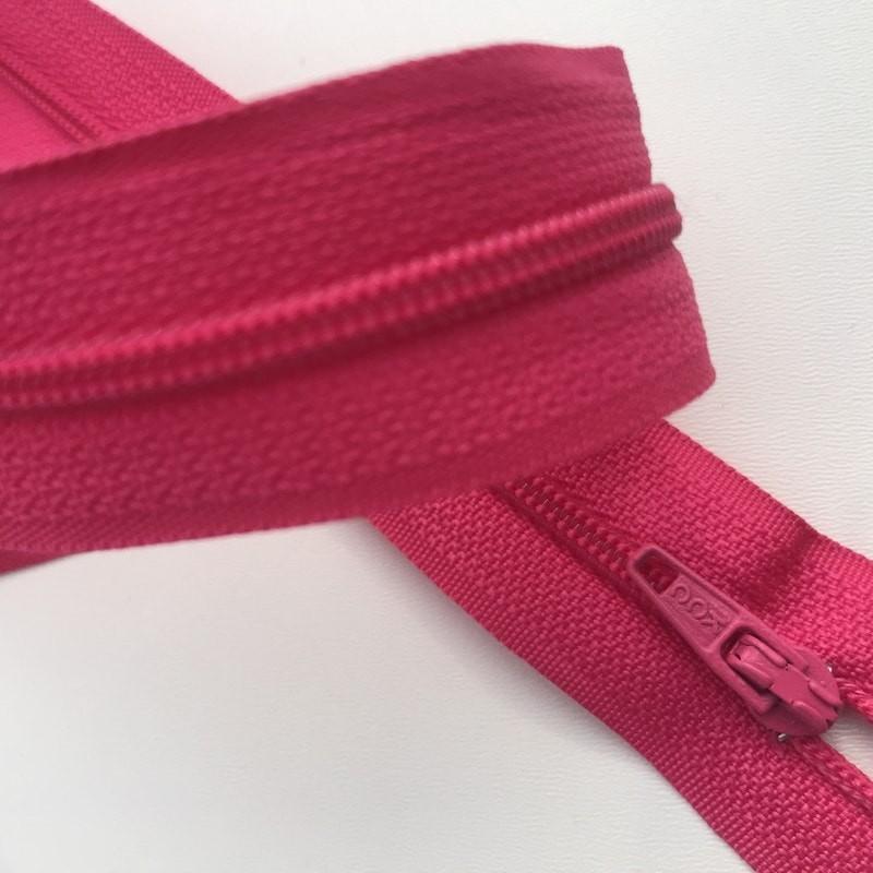 Fermeture éclair zip nylon 60cm fushia