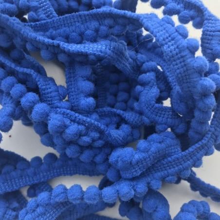 Ruban / Galon pompon (au mètre) bleu roi