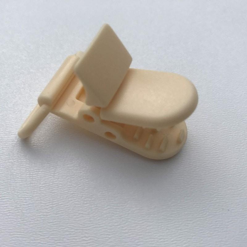 Clip / Attache tétine - Crème