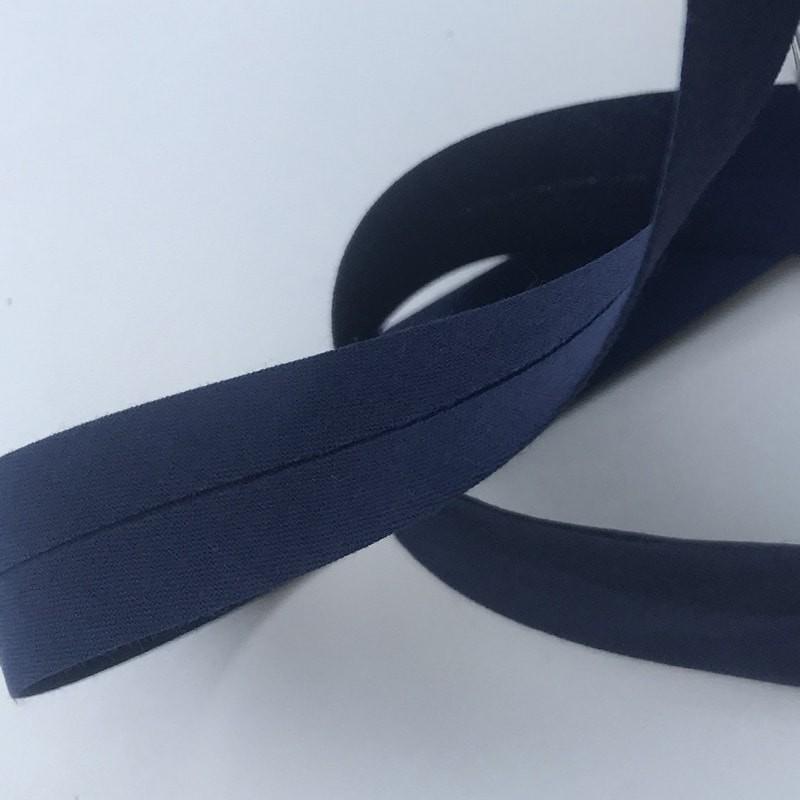 Biais textile 20mm bleu marine (vendu au mètre)