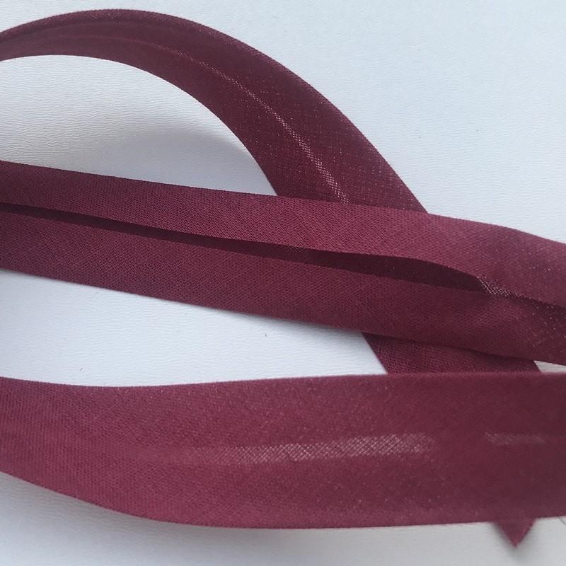 Biais textile 20mm bordeaux (vendu au mètre)