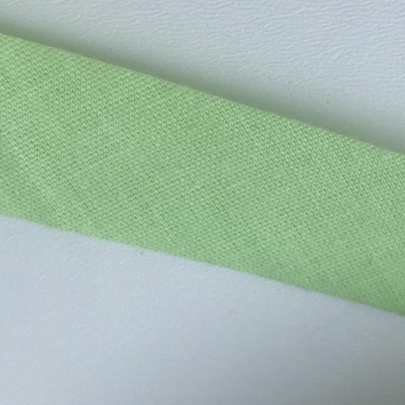 Biais textile 20mm vert anis (vendu au mètre)