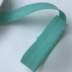 Biais textile 20mm vert  (vendu au mètre)