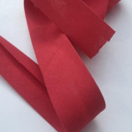 Biais textile 20mm rouge  (vendu au mètre)