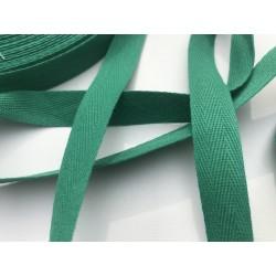 Sangle / Ruban 16mm vert sapin  (Vendu au mètre)