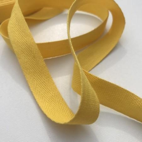 Sangle / Ruban 16mm jaune (Vendu au mètre)