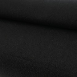 Tissu coton noir