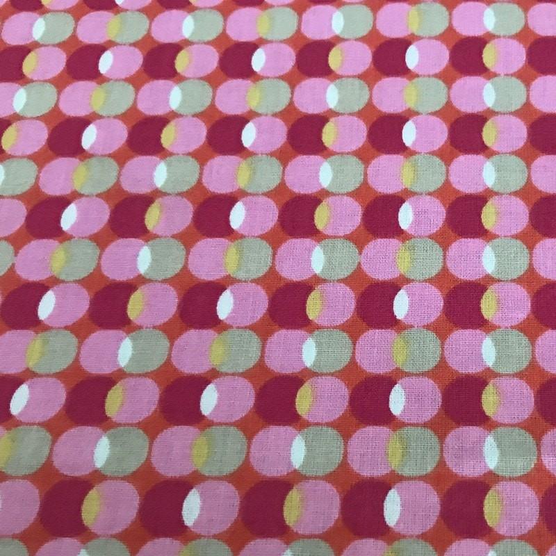 Tissu céramique rond rose