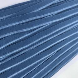 Ruban passepoil élastique bleu (vendu au mètre)