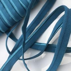 Ruban passepoil élastique Turquoise (vendu au mètre)