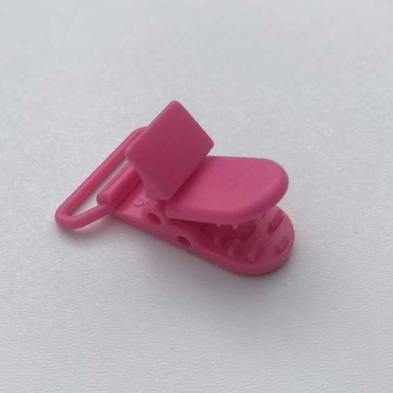Clip / Attache tétine - Rose fuschia